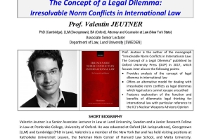 The Concept of a Legal Dilemma: Irresolvable Norm Conflicts in International Law