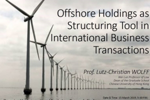 Offshore Holdings as Structuring Tool in International Business Transactions