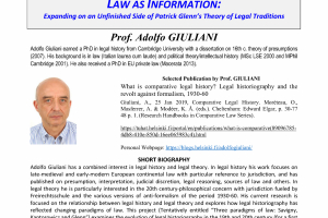 LAW AS INFORMATION: Expanding on an Unfinished Side of Patrick Glenn's Theory of Legal Traditions