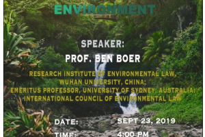"""Jean Monnet Seminar """"The Right to a Clean Healthy and Sustainable Environment"""""""